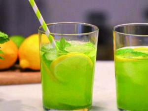 Limonade met moringa, munt, citroen & limoen