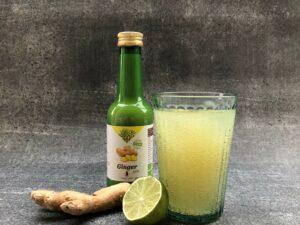 Gember mocktail met limoen en ginger ale/beer